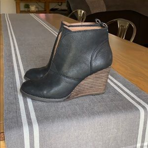 Lucky Brand Wedge Ankle Boots.